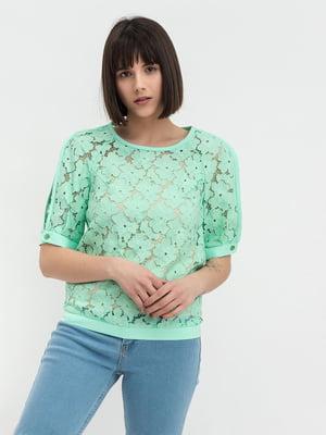 Блуза салатового кольору | 5304085