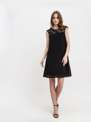 Платье черное с узором | 5304164