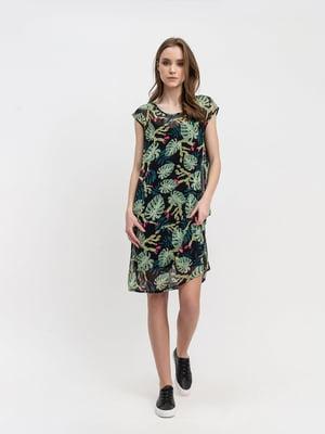 Сукня чорна з принтом | 5343264