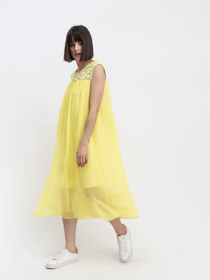Платье желтое с узором | 5441334