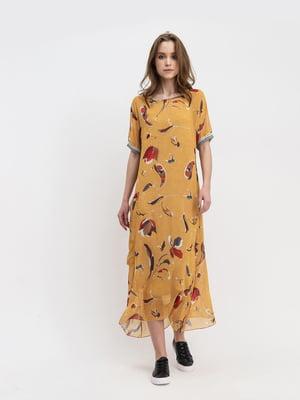 Платье желтое с принтом | 5441342