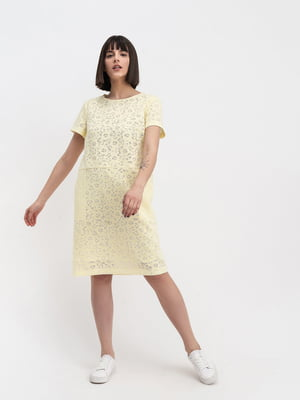 Платье желтое с принтом | 5441373