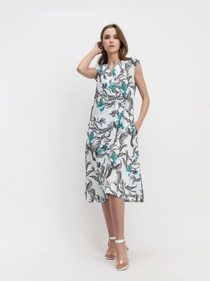 Сукня молочного кольору в квітковий принт   5441387