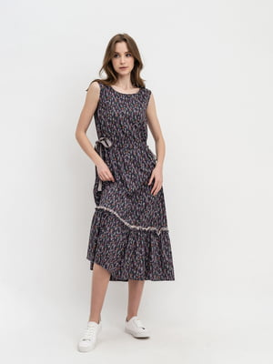 Сукня чорна з принтом | 5483723