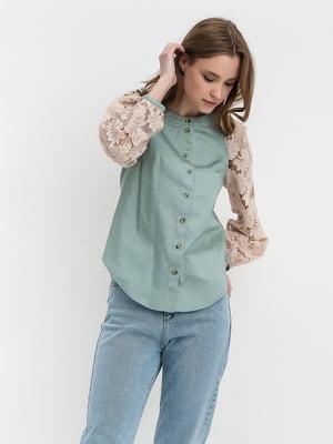 Блуза двухцветная | 5703611