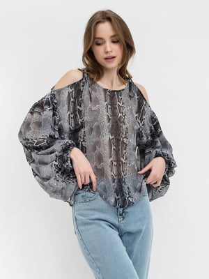 Блуза анималистической расцветки | 5703658