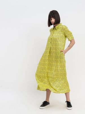 Платье желтое с принтом | 5739783