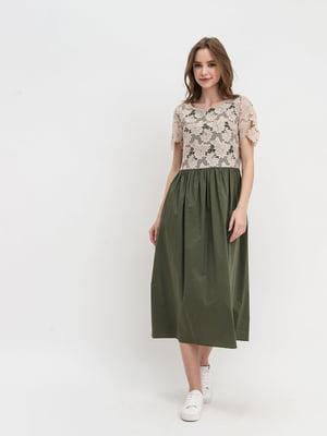 Платье двухцветное | 5739817