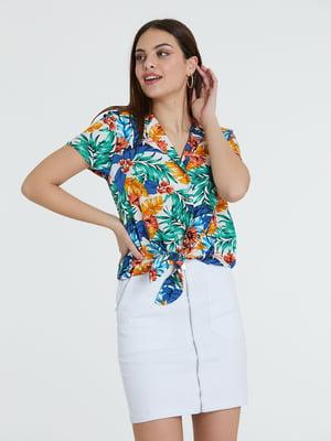 Блуза разноцветная в принт   5741272
