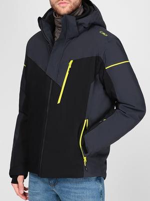 Куртка горнолыжная серо-черная   5613816