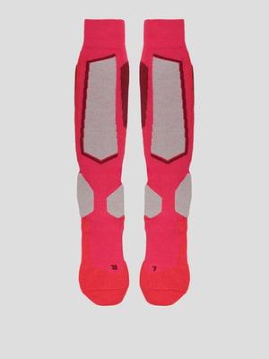 Шкарпетки гірськолижні малинового кольору з логотипом   5628772