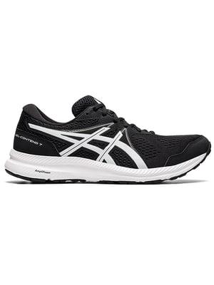 Кросівки спортивні чорні з логотипом GEL-CONTEND 7 1011B040-002 | 5738431