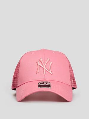 Бейсболка розовая с логотипом | 5738636
