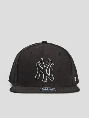 Бейсболка черная с логотипом | 5738674