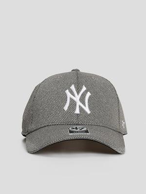Бейсболка серая с логотипом | 5738717