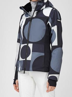 Куртка горнолыжная в абстрактный принт | 5738725