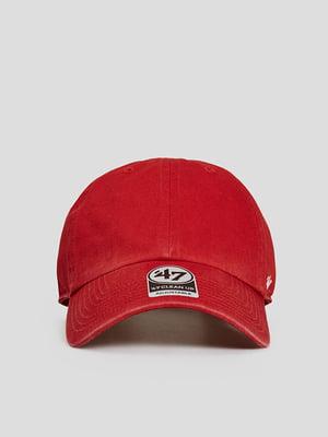 Бейсболка червона з логотипом | 5738750