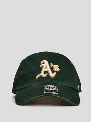 Бейсболка зеленая с логотипом | 5738790
