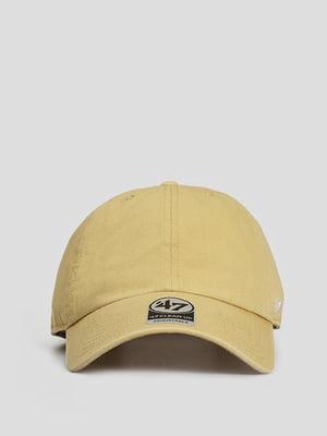 Бейсболка гірчичного кольору з логотипом | 5738820