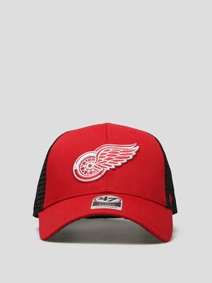 Бейсболка красная с логотипом | 5738904