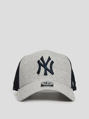 Бейсболка серая с логотипом | 5738910