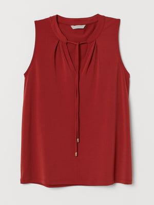 Блуза теракотового кольору | 5742689