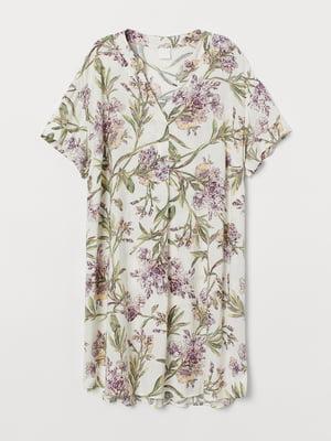 Сукня біла в принт   5742770