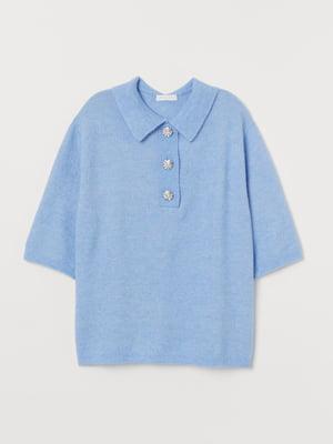 Пуловер голубой   5742864