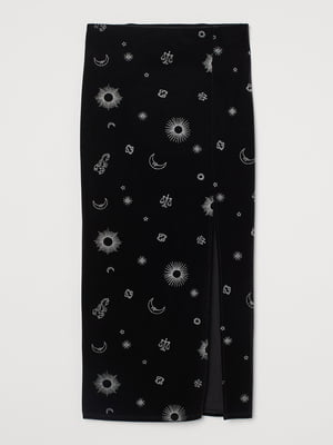 Юбка черная в принт | 5742899