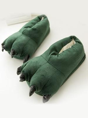 Тапочки-кигуруми зеленые «Лапы» | 5738059