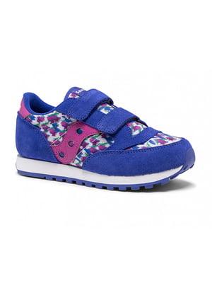Кроссовки синие с цветочным принтом JAZZ DOUBLE HL SK164795 | 5738942