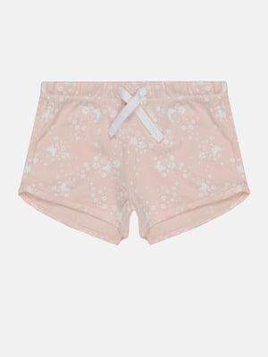 Шорти рожевого кольору в квітковий принт | 5734470