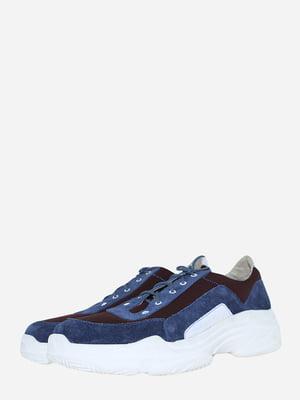 Кросівки синьо-бордового кольору | 5743190