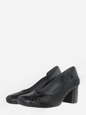 Туфли черные с анималистическим узором   5735579