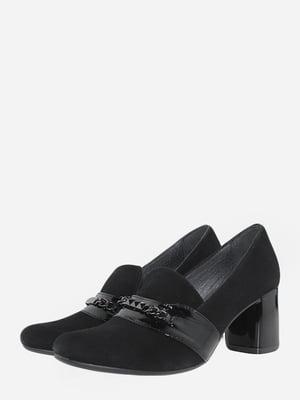Лоферы черные с декором   5735602