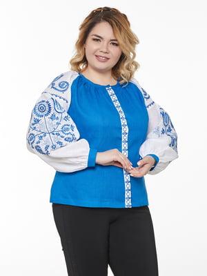 Вишиванка біло-синя | 5743765