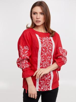 Блуза красная   5743786