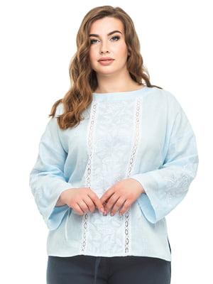 Блуза голубая   5743787