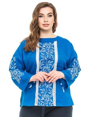 Блуза цвета индиго   5743788