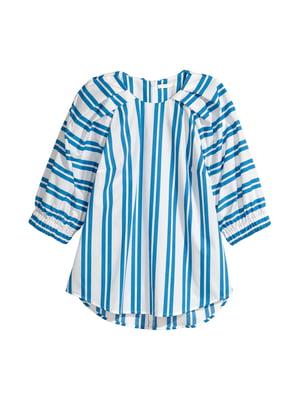 Блуза белая в полоску | 5744606