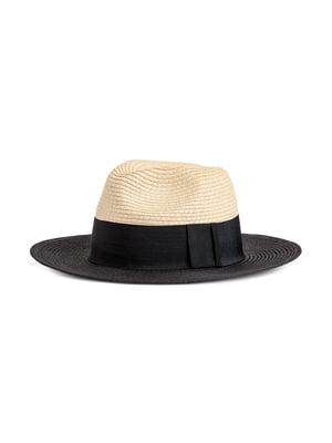 Шляпа черно-бежевая | 5744726