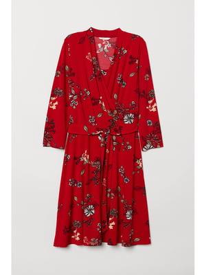 Платье красное в принт | 5744986