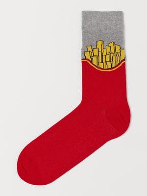 Шкарпетки червоні з малюнком | 5745326
