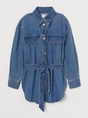 Куртка-сорочка джинсова синя | 5745351