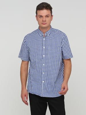 Рубашка синяя в клетку | 5744123