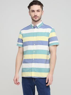 Рубашка белая в полоску | 5744134