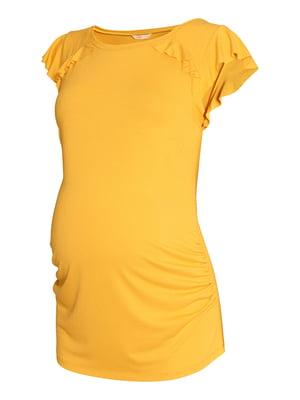 Футболка для беременных оранжевого цвета | 5744461
