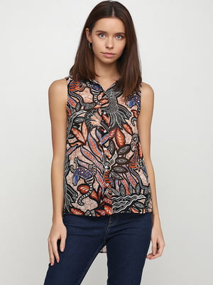 Блуза бежевая с рисунком   5267380