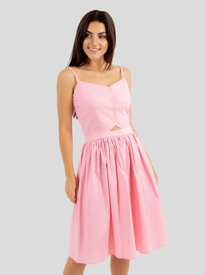 Сарафан рожевий в горошок | 5745294