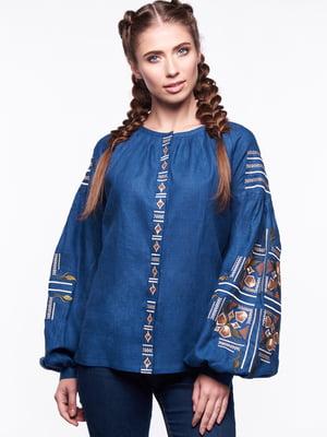 Вишиванка синя | 4828538